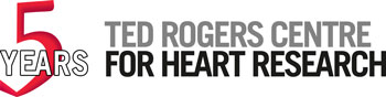 Ted Rogers Centre for Heart Research 5 Year Anniversary logo