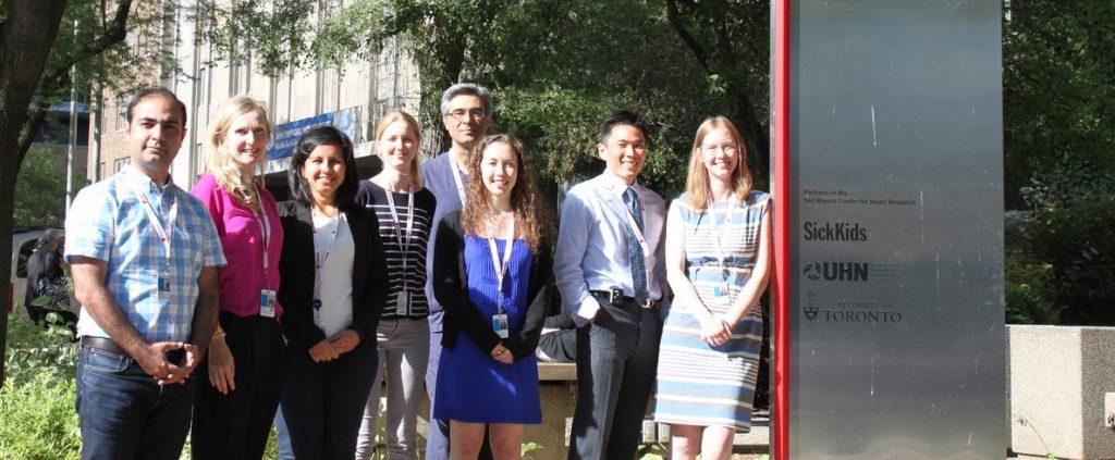 Cardiac Genome Clinicfrom left to right:Roozbeh Manshaei, Eriskay Liston, Reem Khan, Miriam Reuter, Dr. Rajiv Chaturvedi, Meredith Curtis, Dr. Raymond Kim, Dr. Rebekah Jobling.Not pictured: Mohsen Hosseini, Priya Dhir